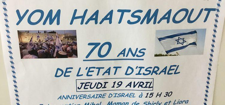 Yom Haatsmaout : joyeux anniversaire, Israël !