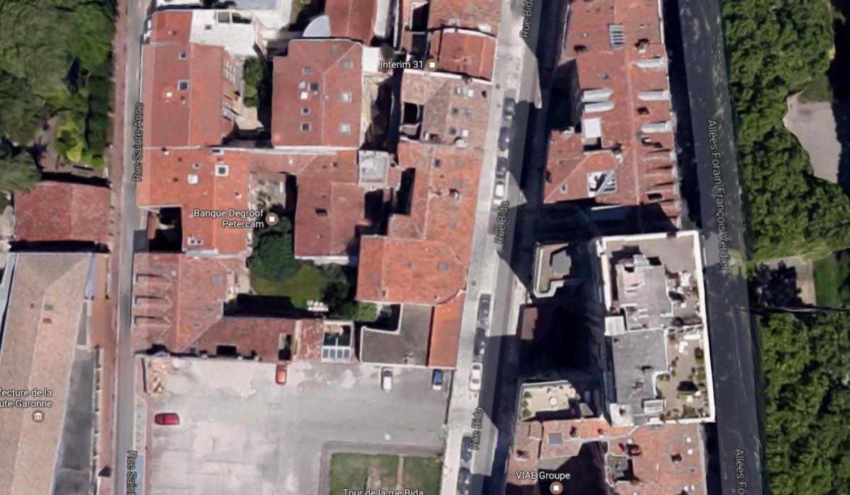 Vue aérienne de la rue Bida