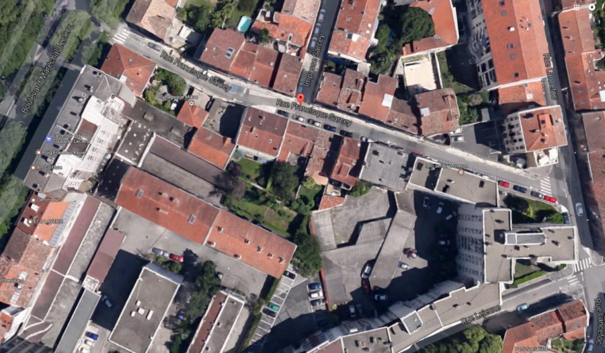 Vue aérienne de la rue Sarcey